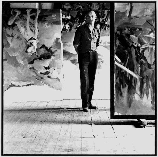 Georg Baselitz photographed by Lothar Wolleh, Mülheim, 1971 via www.ecopolis.org