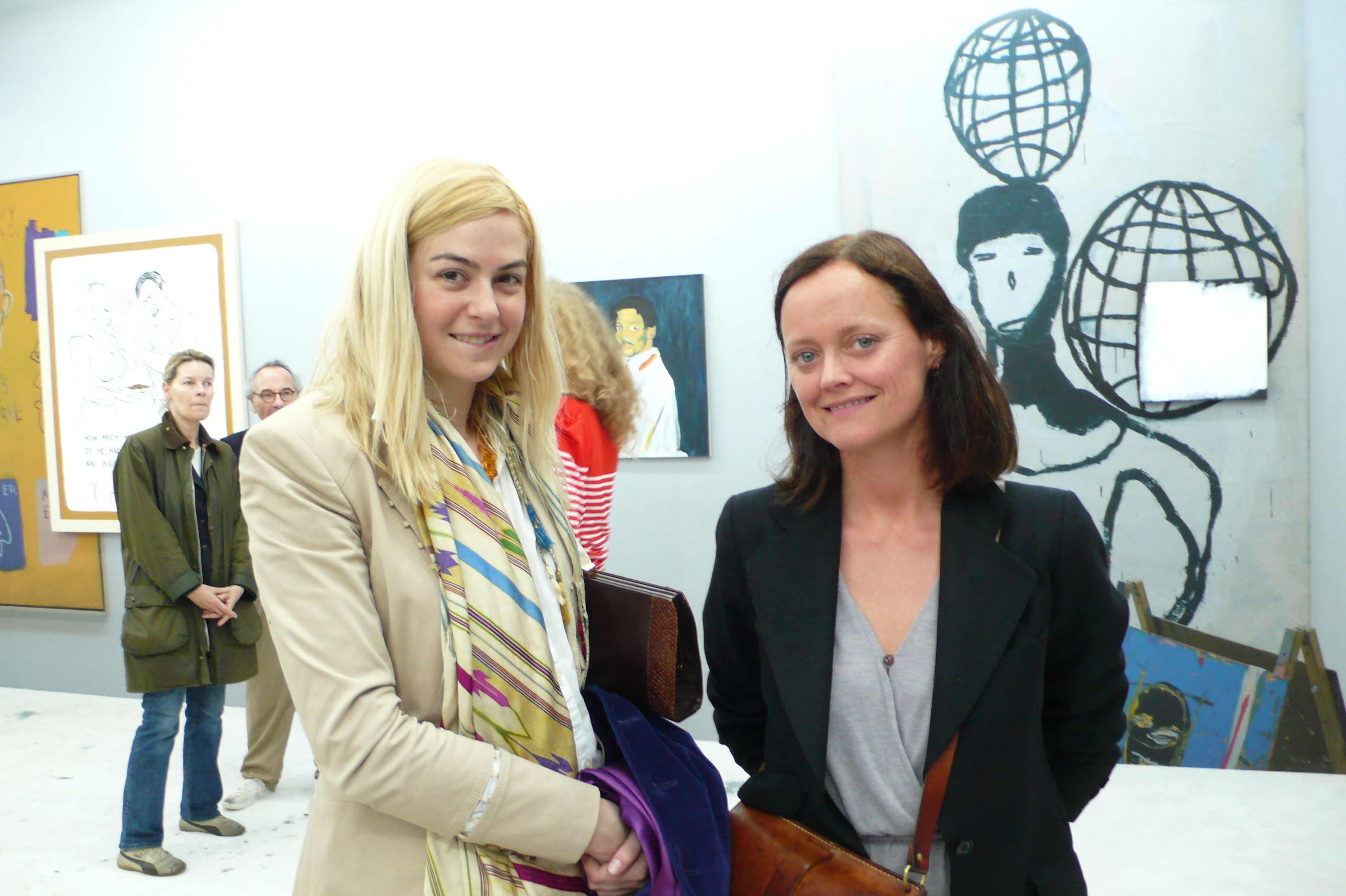 Melissa Bent and Emma Reeves looking lovely, via Art Observed