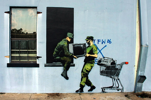 Banksy New Orleans Katrina Supertouch