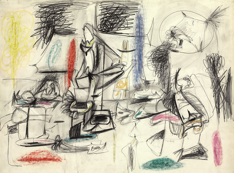 \'Study for Agony\' (1946-7) by Arshile Gorky