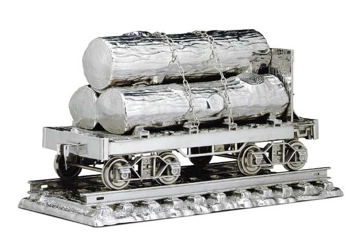 Jim Beam Log Car by Jeff Koons, up for auction at Christie\'s Post-War and Contemporary Art Auction