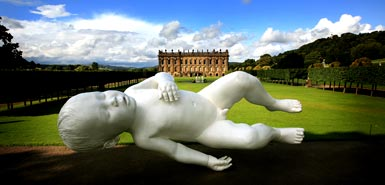 """Planet\"" by Marc Quinn, on display at Chatsworth House as part of Sotheby\'s auction"