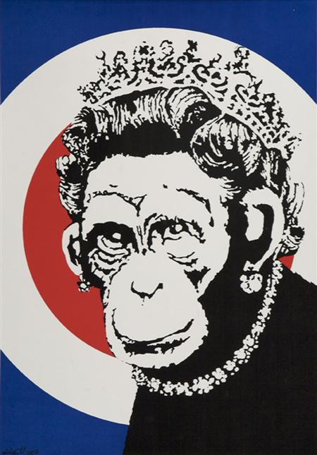 Monkey Queen by Banksy
