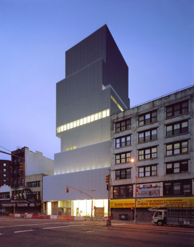 New Museum on Bowery, and its new expansion to the right