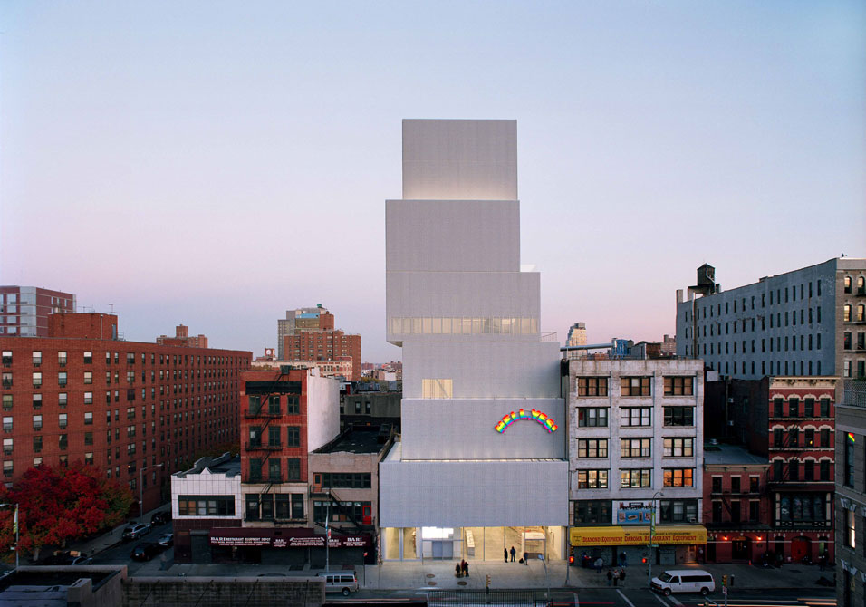 New Museum on Bowery, with its new acquisition to the right