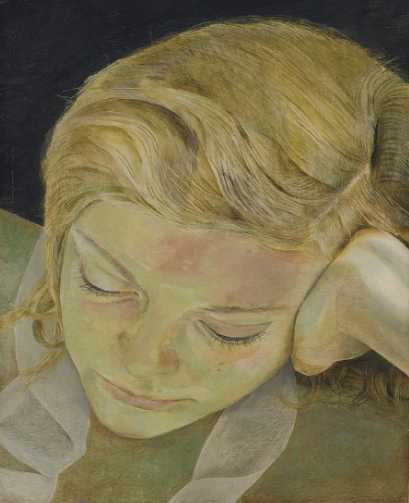 Reading Girl by Lucian Freud