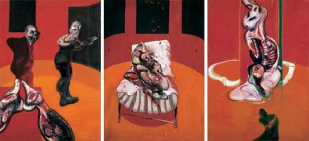 Three Studies for a Crucifixion (1962) by Francis Bacon