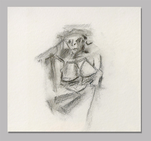 Untitled (Woman) (1950) by Willem de Koonig
