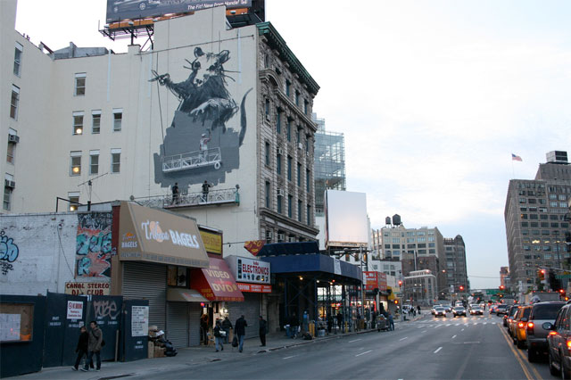 Banksy mural at Canal and West Broadway