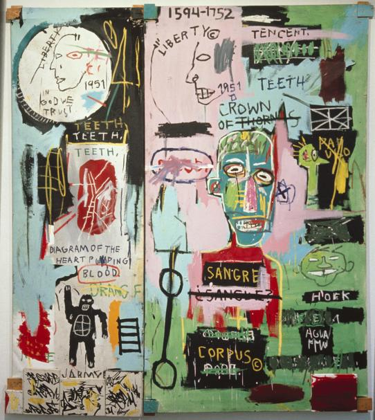 In Italian by Jean Michel Basquiat,