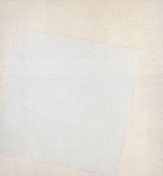 Suprematist Composition, White on White by Malevich