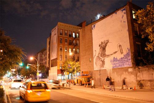 Banksy mural at Houston and MacDougal