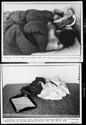 Sophie Calle- Les dormeurs, 1979 image via www.elsilencio.com