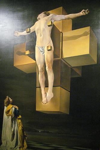 Crucifixion (Corpus Hypercubus)- Salvador Dali