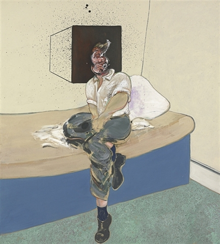 """Study for self portrait"" (1964) by Francis Bacon, Christie's, via Artnet"