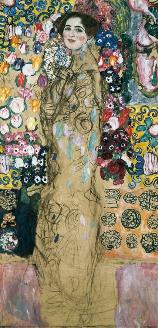 Gustave Klimt -  Portrait of Ria Munk III