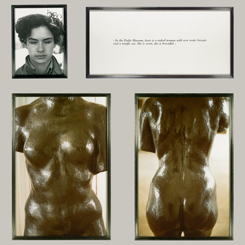 Sophie Calle- Blind #14, 1986 Gelatin silver print, two chromogenic prints, and text panel image via www.metmuseum.org