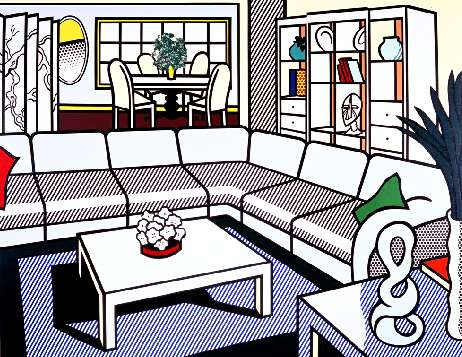 interior-with-african-mask-roy-lichtenstein