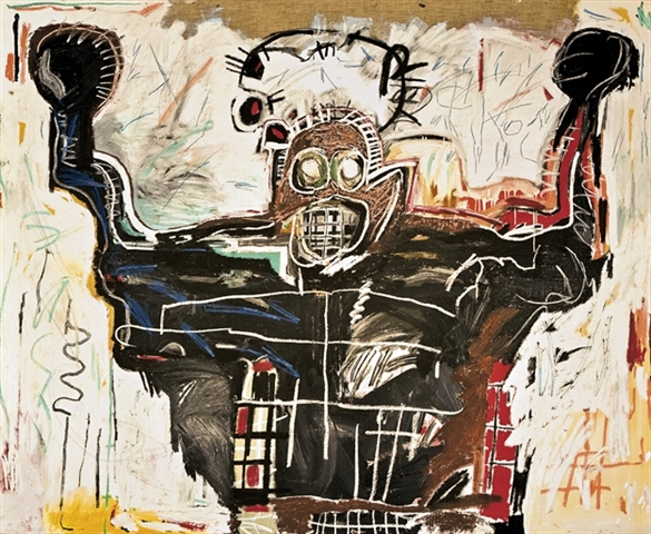"""Untitled, Boxer"" (1982) by Jean-Michel Basquiat, via artnet.com"