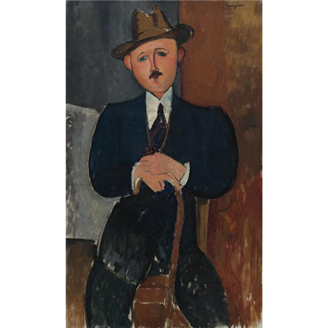 lot-26-amedeo-modigliani-1884-1920-homme-assis-appuye-sur-une-canne-18000000e2809425000000-usd