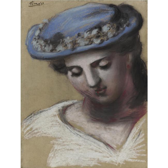 pablo-picasso-lot-5-femme-au-chapeau-bleu-garni-dune-guirlande-sothebys