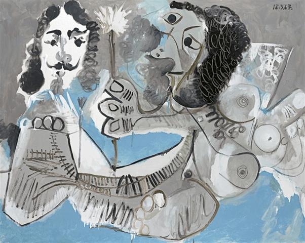 Pablo Picasso - Mousquetaire et femme à la fleur - $9,042,500 est. $8.0 - $10.0 million
