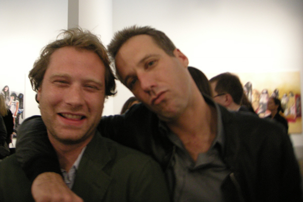 Adam Cohen and Neils Kantor at Richard Prince's Canal Zone exhibition.