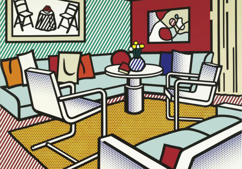 Roy Lichtenstein - Interior with Red Wall - lot 47 $7,026,500, est. $8 to 12 million