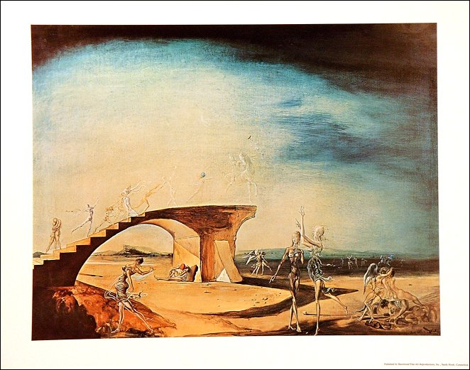 The Broken Bridge and The Dream- Salvador Dali