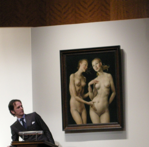 Sotheby's November 11th, 2008 John Currin Nice 'N Easy.