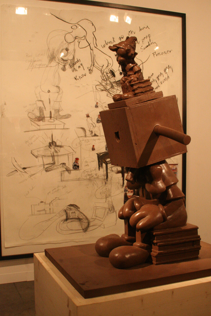 art-basel-2008-paul-mccarthy-captain-morgan-poopdeck-and-chocolate-silicon-blockhead-via-hauser-wirth