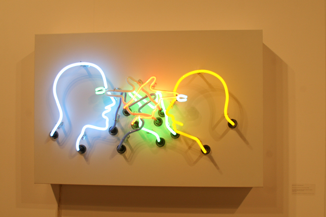 "Art Basel 2008 Bruce Nauman ""Double Poke in the Eye II"" Nitsch/Paragon"