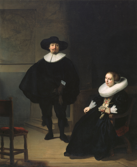 rembrandt-a-lady-and-gentleman-in-black-1633