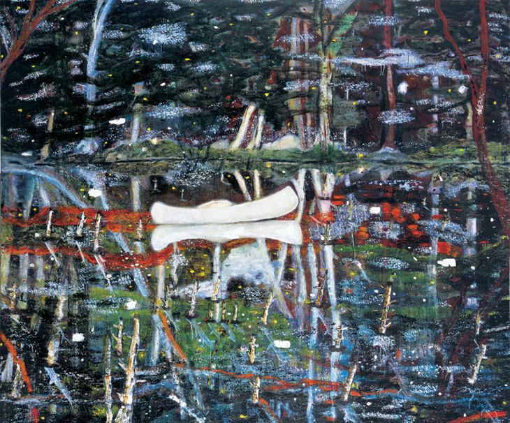 peter-doig-white-canoe-1990