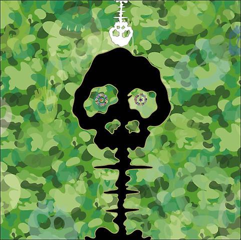 Takashi Murakami-Time-Camouflaged Moss Green-2009