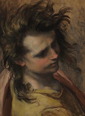 Head of Saint John the Evangelist-by Federico Barocci