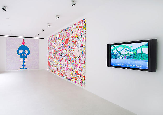 Takashi Murakami-Installation View-New Paintings at Gagosian Gallery