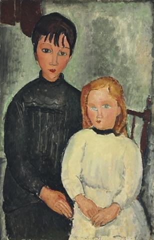 amedeo-modigliani-les-deux-filles-1918