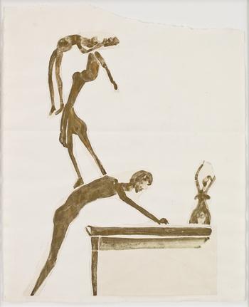 Joseph Beuys-Artistes (Cascade)-Circa 1954