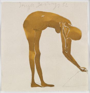 Joseph Beuys-Akt (Nude)-1952