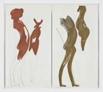 Joseph Beuys-Two Double Nudes-1959