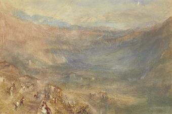 JMW Turner-The Brunig Pass from Meringer, Switzerland-1847-48