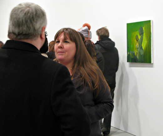 Lisa Yuskavage appears! - David Zwirner opening - photo by Art Observed