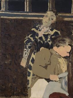 EDOUARD VUILLARD : Marie rêveuse et sa mère avec le cachet de l'atelier 'E Vuillard' via Christie's auction
