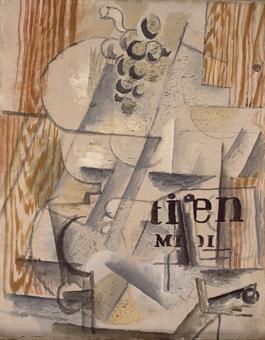 GEORGES BRAQUE (1882-1963): Compotier, Quotidien du Midi signé 'GBraque' (au revers) huile et sable sur toile via Christie's
