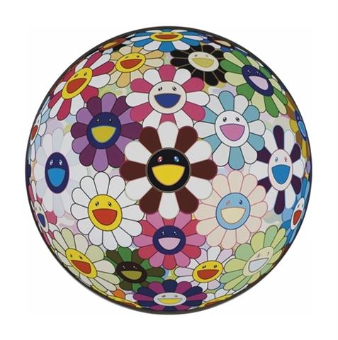 takashi-murakami-flower-ball-brown-2007