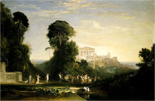 J.M.W. Turner-Temple of Jupiter Panellenius Restored-1814-1816-Sothebys