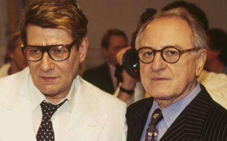 Yves Saint Laurent Auction Underway. Yves Saint Laurent and Pierre Berge via UK Daily Telegraph