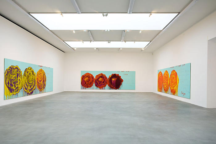 Cy Twombly The Rose: Installation View Gagosian Gallery