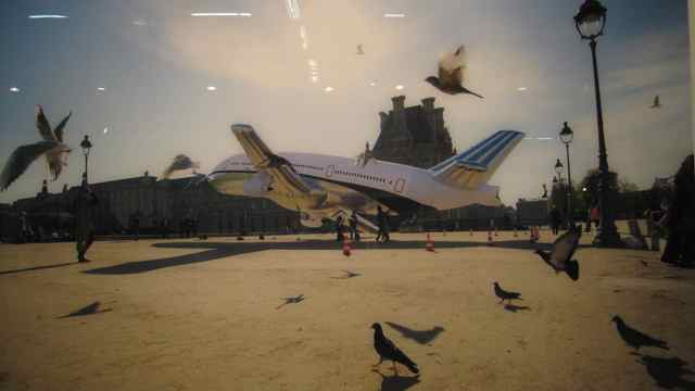 Aleksandra Mir, Plane Landing In Paris #8988, 2008, Galerie Laurent Godin Paris